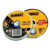 Set 10 dischi abrasivi inox 115x1mm in scatola di metallo DT3506 DeWalt