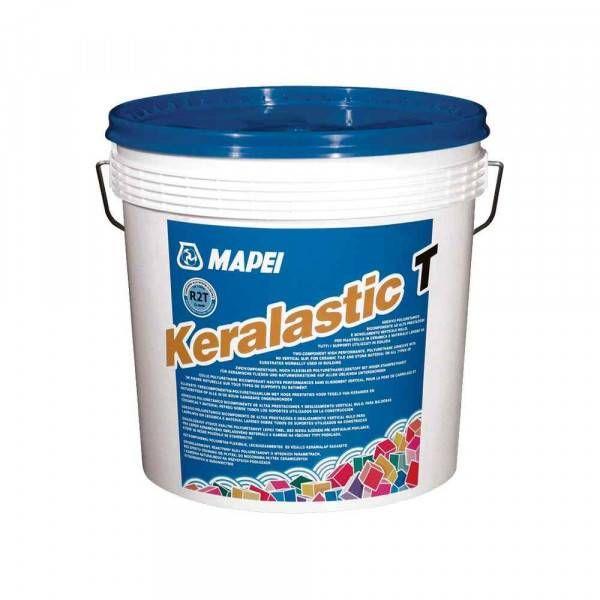 Keralastic T Mapei adesivo poliuretanico bianco per incollaggio piastrelle ceramica 5 Kg