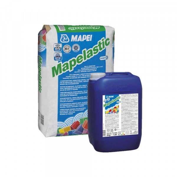 Malta bicomponente per impermeabilizzazione da 32kg Mapelastic Mapei