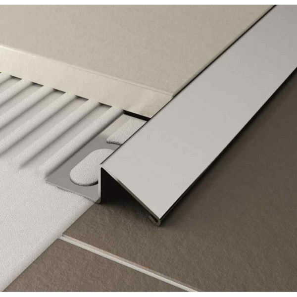 Profilo per pavimenti in alluminio anodizzato argento 270 cm Cerfix Pronivel P Profilpas