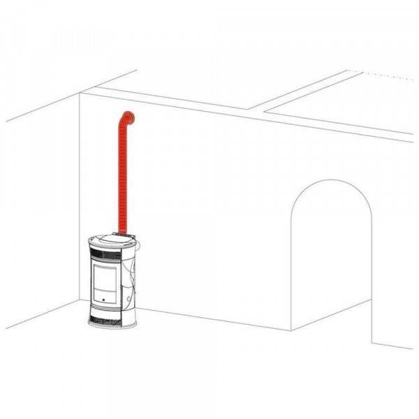 Kit 12 canalizzazione aria calda per stufa a pellet 778150 Edilkamin