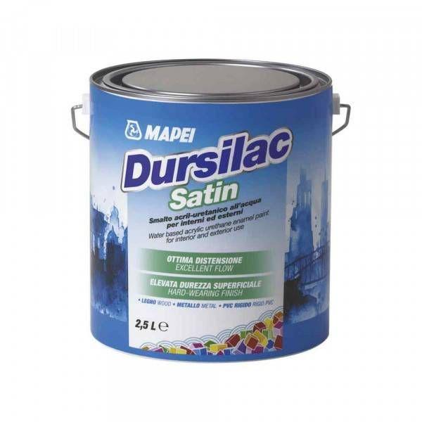 Dursilac Satin 2,5 Litri Mapei smalto acril-uretanico all acqua per interni ed esterni