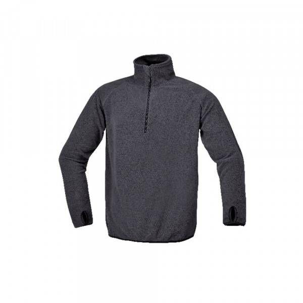 Micropile zip corta grigio antracite 180gr 7635G Fleece & Sweaters Beta