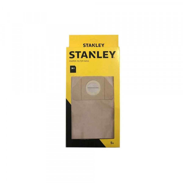 Filtri in carta per aspirapolvere 30Lt  5pz 41857 Stanley