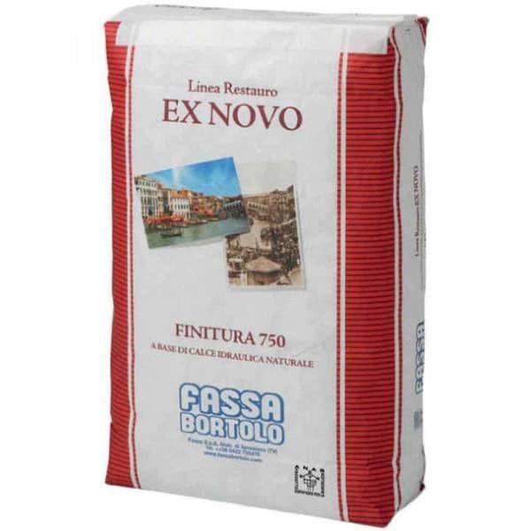 Bio-intonaco per il risanamento di murature umide 25Kg Finitura 750 Fassa