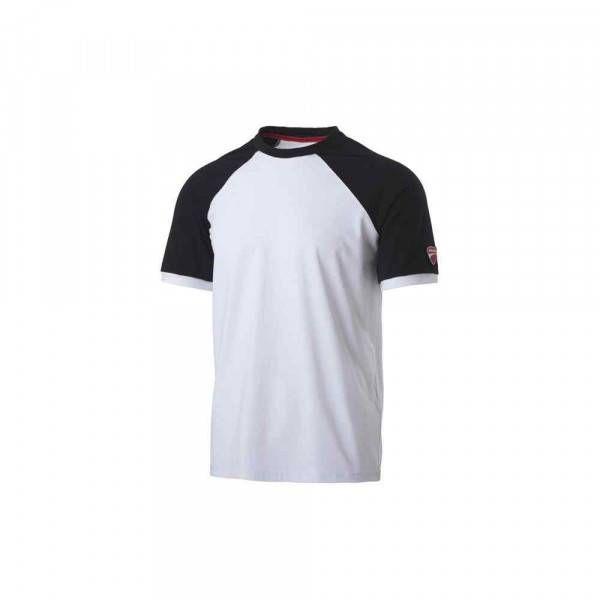 T-Shirt Inn-Valencia colore Bianco e Nero 20DUC1 Ducati Workwear