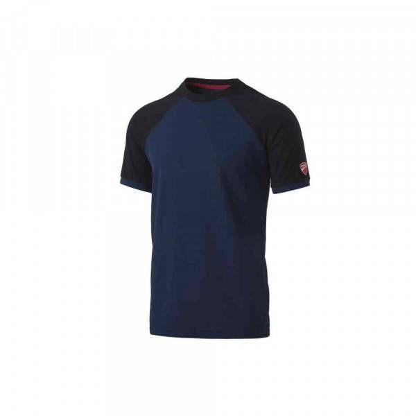 T-Shirt Inn-Valencia colore Saylor Blue/Nero 20DUC1 Ducati Workwear