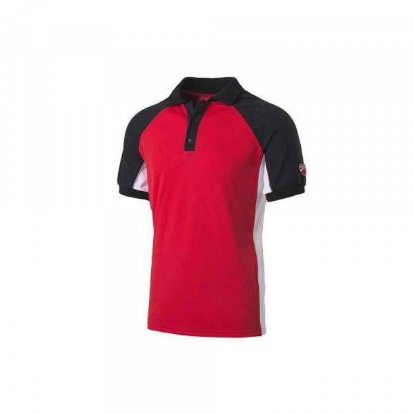 Polo manica corta Inn-Barcellona colore rosso e nero 22DUC1 Ducati Workwear