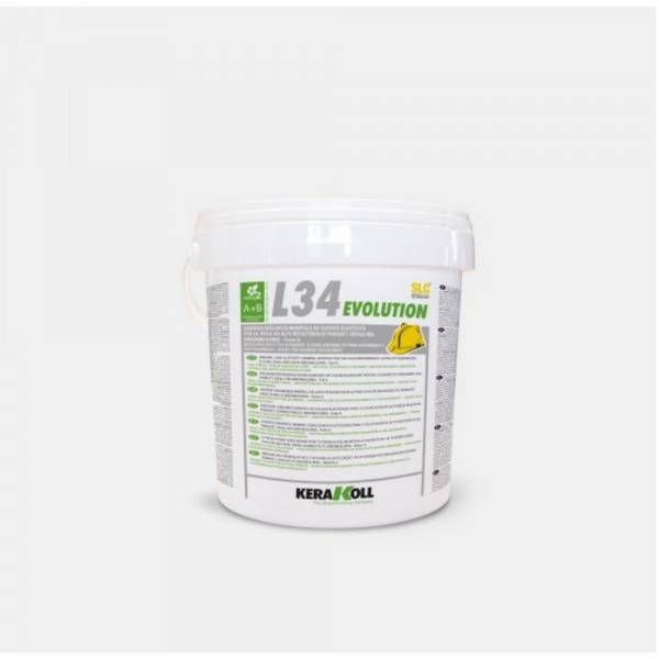 Adesivo bicomponente organico per parquet 10Kg SLC Evolution L34 Kerakoll