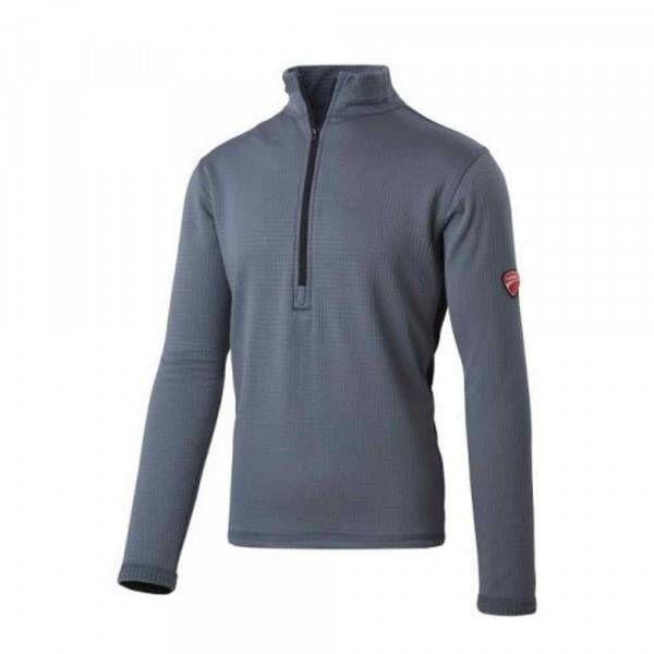 Pile mezza zip grigio/nero 31DUC1 Inn Grid Ducati Workwear