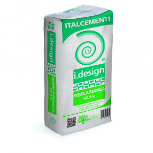 Cemento bianco R 32,5 18Kg Idesign Aquila Bianca Italcementi