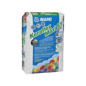 Adesivo cementizio grigio per incollaggio di piastrelle 25kg Keraflex Maxi S1 Zero Mapei