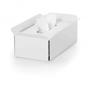 Porta fazzolettini in alluminio verniciato bianco Bandoni Lineabeta