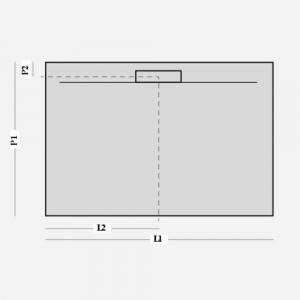 Box Vasca per Nicchia 140 cm a un lato con apertura laterale Londra