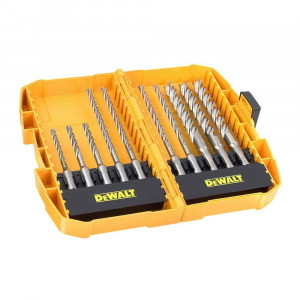 Set 10 punte SDS Plus XLR 4 taglienti in mini valigetta DT8977B DeWalt