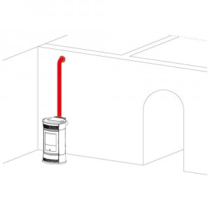 Kit canalizzazione aria calda per stufa a pellet Art.297360 Kit 8 Edilkamin