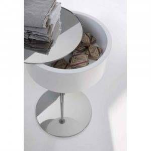 Tavolino porta oggetti con specchio bianco One-Two Arlex