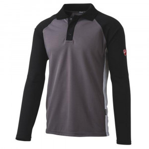 Polo manica lunga grigio/nero 23DUC1 Inn Assen Ducati Workwear