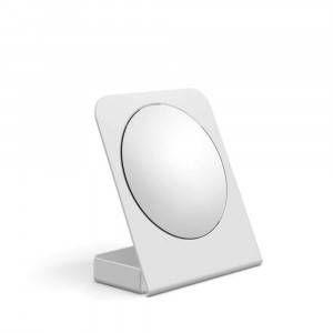 Specchio ingranditore in alluminio bianco 55864.09 Lineabeta