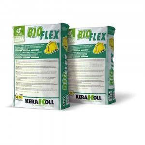 Adesivo eco-compatibile per incollaggio 25Kg Bioflex Kerakoll