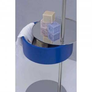 Tavolino porta oggetti con specchio blu One-Two Arlex