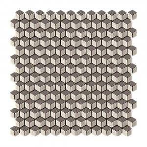 Mosaico in pasta di vetro 3d Nickel 30x30 Boxer