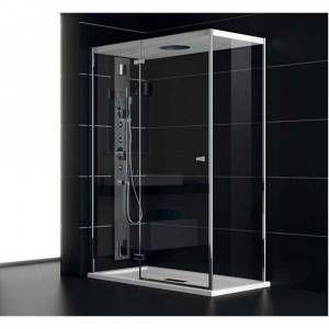 Box doccia porta battente 120x80cm NC8B6 Chapeau Teuco
