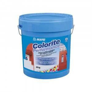 Pittura acrilica protettiva colorata per interni ed esterni Colorite Performance Mapei