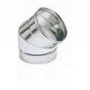 Curva 45° acciaio AISI 316 200mm Polymaxacciai