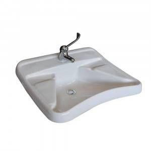 Lavabo ergonomico 65 x 57 cm per disabili HH100LAB Civita Cromo