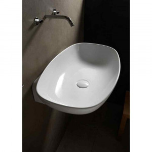 Lavabo bianco 75cm Nudaslim ND75L Flaminia Ceramica