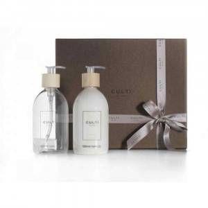 Cofanetto regalo con sapone e crema mani fragranza Tessuto 500ml Welcome Culti