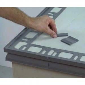 Giunzione inf/sup per profilo in alluminio verniciato per balconi 12,5mm Proterrace Drain FDP Progress Profiles