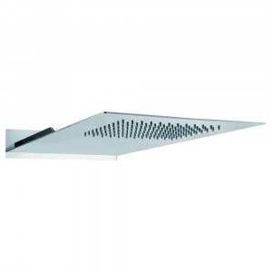 Soffione doccia monogetto nero opaco 48x25cm 11450 Gaboli