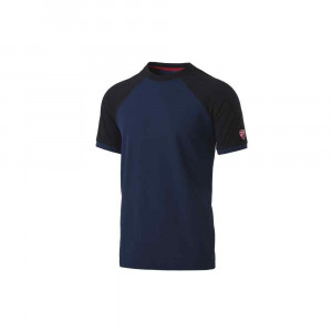 T-Shirt Inn-Valencia colore Saylor Blue/Nero 20DUC1 Ducati Workwear