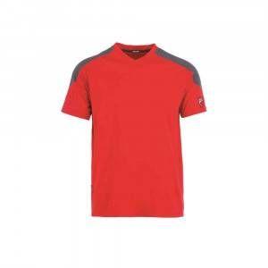 T-Shirt Inn-Rio Hondo con collo a V colore Rosso e Grigio Ducati Workwear