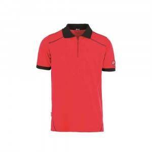 Polo manica corta con zip INN-DOHA Colore Rosso 22DUC5 Ducati Workwear