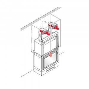 Kit canalizzazione UNO/BIS 112830 aria calda per focolare a legna IC Tekno Italiana Camini edilkamin