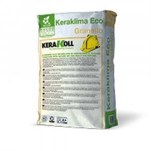 Adesivo e rasante bianco minerale eco-compatibile per posa dei pannelli 25Kg Keraklima Eco Granello Kerakoll