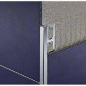 Profilo per angoli esterni in alluminio lucido brillantato color argento ZQBN/80 Cerfix Proangle Q Profilpas