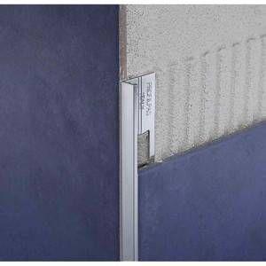 Profilo in alluminio brillantato ludico argento lunghezza 270 cm ZB ProAngle Profilpas
