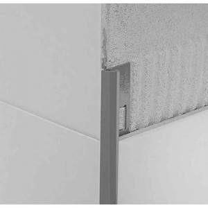 Profilo in alluminio brillantato lucido argento 270 cm RB Protrim Profilpas