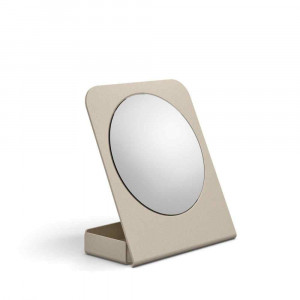 Specchio ingranditore in alluminio sabbia 55864.21 Lineabeta