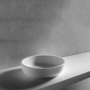 Top Solid Surface Bianco per Struttura + 2 Fresate P/Asciugamani Brera