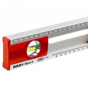Livella tracciatura alluminio 2 bolle 80 cm 69056101 Sola