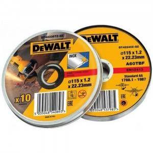 Set 10 dischi abrasivi inox 115x1.2mm in scatola in metallo DT42335TZ DeWalt