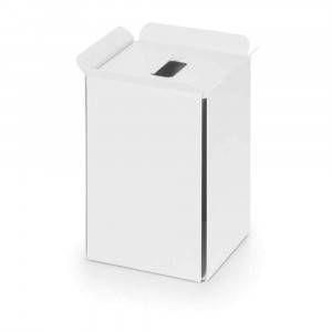Gettacarta in alluminio verniciato bianco Art.53442.09 Bandoni Lineabeta