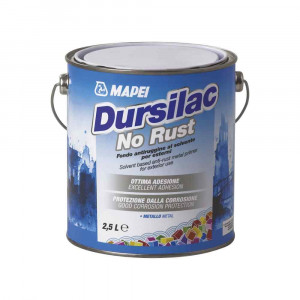 Dursilac No Rust Grigio Mapei fondo antiruggine al solvente per esterni