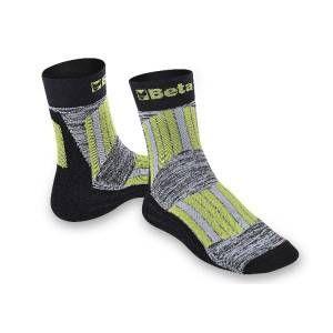 Calze maxi sneakers con inserti protettivi  cotone/bamboo 7427 Beta