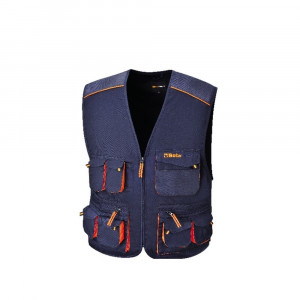 Gilet multitasche leggero da lavoro blu 180gr 7877E Easy Light Beta